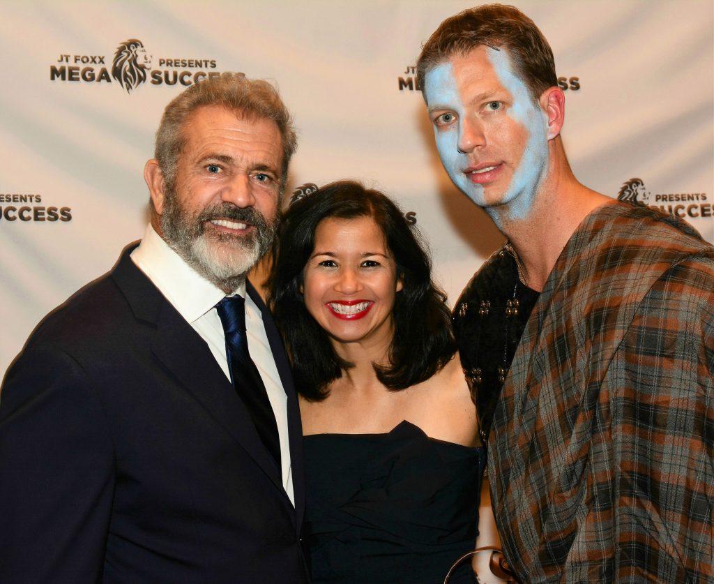 Sandra Fisser with actor & film maker Mel Gibson.