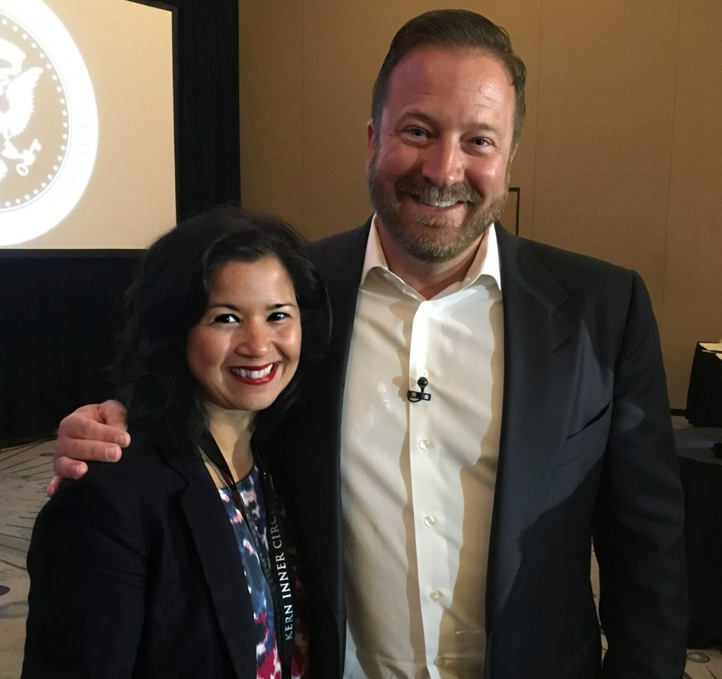 Sandra Fisser and mentor Frank Kern, America's most famous Digital Marketing Authority